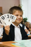 boy cards figures ridiculous shows Fotografering för Bildbyråer