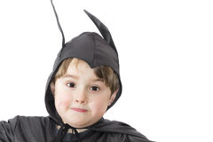 Boy with carnival costume . Costume of bat Royalty Free Stock Photography
