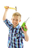 Boy carpenter Stock Photos