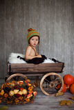 Boy in a carriage Stock Photo
