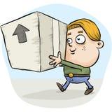 Boy Carrying Box Cartoon Royalty Free Stock Photos