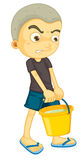 A boy carrying bucket Stock Photos