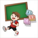 Boy cartoon of back to school design Royalty Free Stock Photo