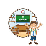 Boy cartoon of back to school design Royalty Free Stock Photos