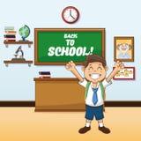 Boy cartoon of back to school design Stock Photography