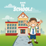 Boy cartoon of back to school design Royalty Free Stock Images