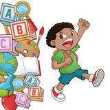 Boy cartoon of back to school design Stock Image