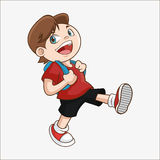Boy cartoon of back to school design Stock Photo