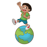 Boy cartoon of back to school design Royalty Free Stock Photography
