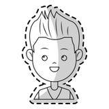 Boy cartoon icon Stock Image