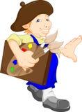 Boy cartoon painter Royalty Free Stock Image