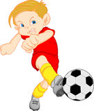 Boy cartoon soccer player Stock Photos