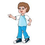 Boy. Cartoon style. Royalty Free Stock Images