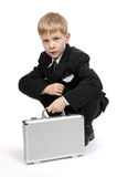 Boy with a case. The boy with a case Stock Photography