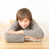 Boy with case for money Stock Photography