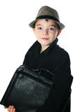 Boy with a case Royalty Free Stock Photo