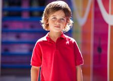 Boy In Casuals At Preschool Royalty Free Stock Photos
