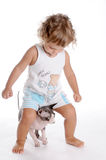 Boy and Cat 2 Stock Photography