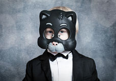 Boy-cat Royalty Free Stock Photo