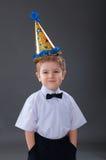 Boy celebrating the birthday Stock Images