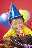 Boy celebrating birthday Royalty Free Stock Photos