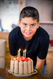 Boy Is Celebrating Birthday Royalty Free Stock Images