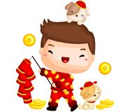 Boy Chinese New Year Royalty Free Stock Photo