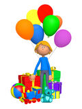 Boy celebrating his birthday Royalty Free Stock Photos