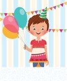 Boy celebrating his birthday Royalty Free Stock Photo