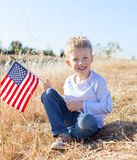 Boy celebrating independence day Royalty Free Stock Photos
