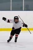 Boy celebrating scoring a goal in ice hockey. Boy celebrating scoring a goal in hockey Stock Photo