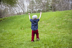 Boy celebration Stock Images