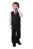 Boy on cell phone Royalty Free Stock Photography