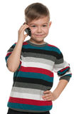 Boy with a cell phone Stock Photos