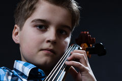 Boy with cello Royalty Free Stock Images