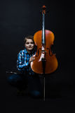 Boy with cello Stock Photos