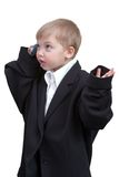 Boy with cellphone Stock Image