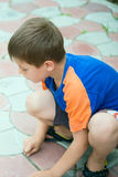 Boy Chalk drawing Royalty Free Stock Photo