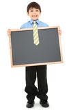 Boy with Chalkboard Royalty Free Stock Photography