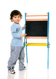 Boy with chalkboard. Royalty Free Stock Images