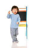 Boy with chalkboard. Royalty Free Stock Photos