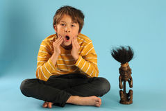 Boy in challenge Stock Image
