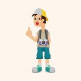 Boy character theme elements Stock Photos
