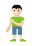 Boy Character Vector Illustration in Flat Style Royalty Free Stock Photos