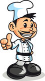 Boy chef. An happy young chef doing the allright gesture Royalty Free Stock Image