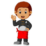 Boy chef cartoon Royalty Free Stock Photo