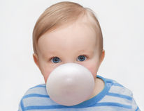 Boy with chewing gum Royalty Free Stock Photography