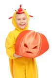 Boy in the chicken costume Royalty Free Stock Photos