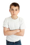 Boy child arms crossed Stock Photography