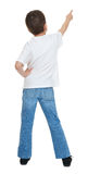 Boy child backside point at Royalty Free Stock Photography